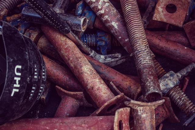 oud ijzer afval scheiden